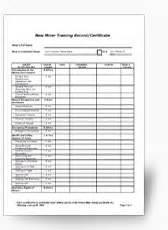 employee or independent contractor checklist template msha training requirements