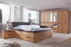 schlafzimmer bett 200x200 schlafzimmer kernbuche teilmassiv leder braun woody 19 00408 ebay