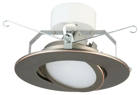 6 gimbal led recessed lighting lithonia 6 quot oil rubbed bronze led gimbal module modern