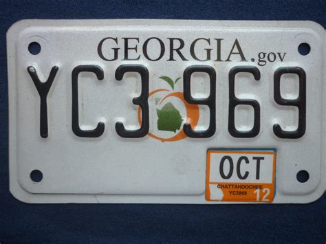 Georgia Motorcycle License Plate