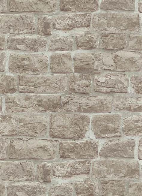 erismann rustic brick stone effect wallpaper beige