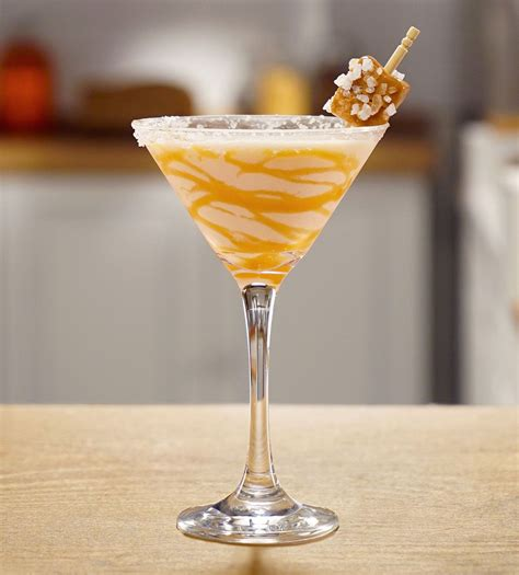A sip of this yummy cocktail will warm you up on a chilly autumn night. Must Mix: RumChata Martinis for Valentine's Day | Salted caramel martini, Caramel martini ...
