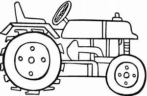 free printable tractor coloring pages for kids With tractor template to print
