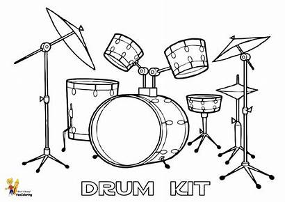 Drum Drums Coloring Printables Pages Easy Pounding