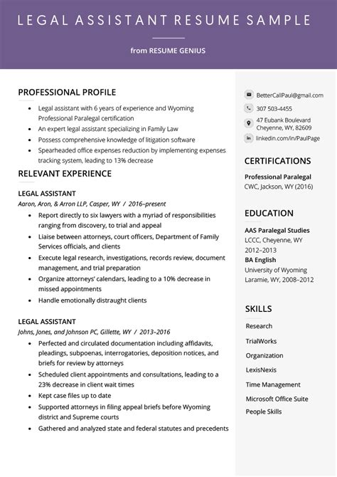 Resume Assistant by Assistant Resume Exle Writing Tips Resume Genius
