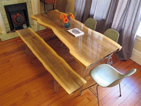 slab wood table   plywood  love