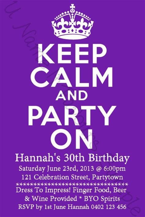 30th Birthday Invitations Ideas Birthday party