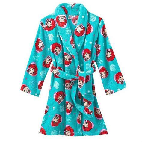 New Disney Princess Ariel Mermaid Fleece Bath Robe Pajama