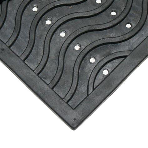 Black Rubber Doormat by Trafficmaster Black Lattice 24 In X 36 In Door Mat