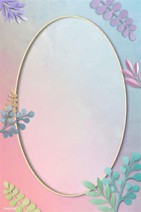 Download premium illustration of Colorful leafy oval frame ...