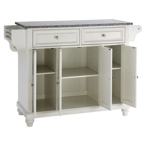 cambridge solid granite top kitchen island white dcg