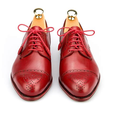 derby shoes  red calf