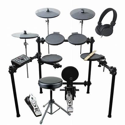 Drum Kit Electronic Piece Artist Electric Headphones