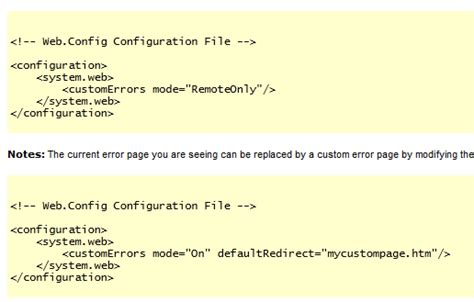 Web.config Customerrors Mode