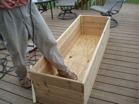diy deck planter box plans wooden  adirondack chair