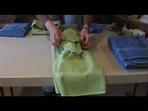 How to tie towels to impress your clients youtube for How to tie towels in bathroom