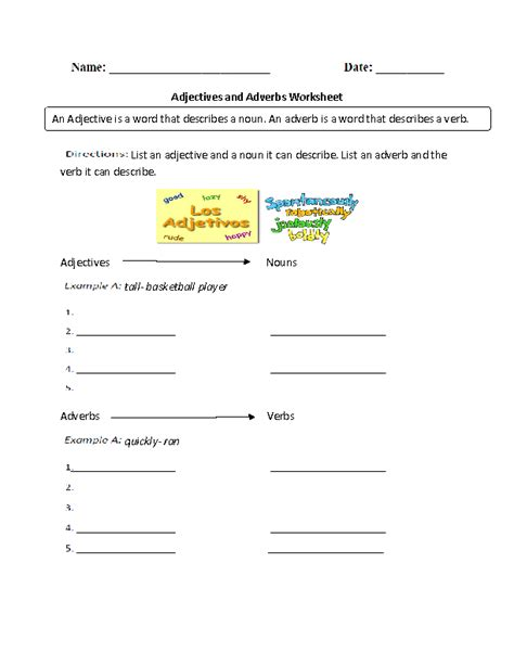 printable adjective worksheets 6th grade worksheets free