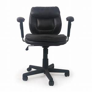 86 off plush faux leather office chair chairs for Plush office chair