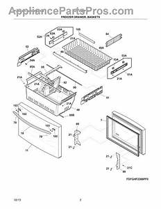 Parts For Frigidaire Fghf2366pf0  Freezer Drawer  Baskets Parts