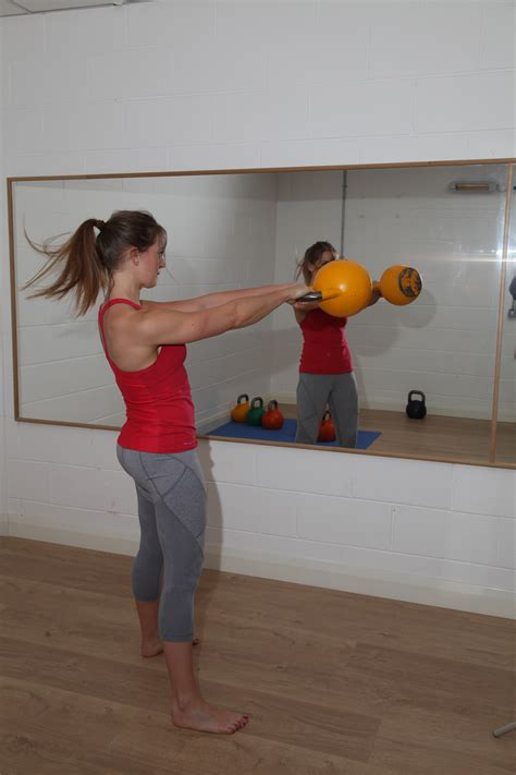kettlebell swing workout hiit fitness routine there