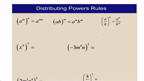 Polynomials Multiplying And Dividing Monomials Youtube