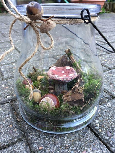 diy herbstdeko basteln wald im glas herbst dekoration