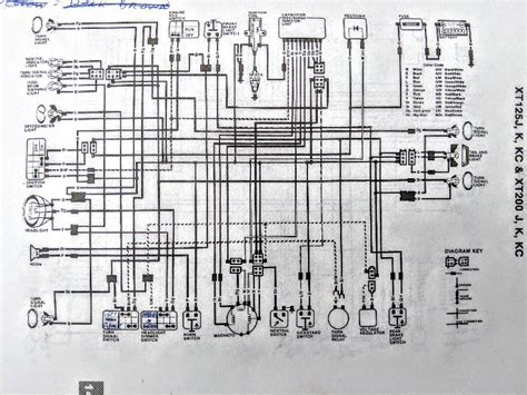 Yamaha Xt 200 Wiring Diagram by 1982 Xt200 Electrical Help Vintage Enduro Discussions
