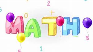 Mathematics clipart title - Pencil and in color