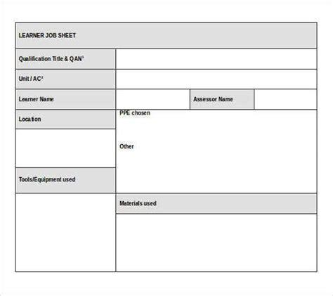 job sheet templates samples   excel apple