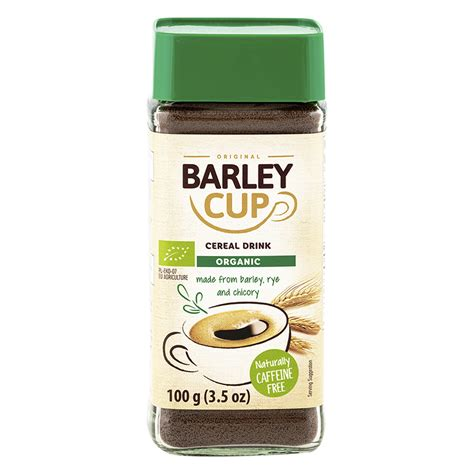It is freeze dried using a certified organic process to maintain the taste and aroma of real coffee. Barley Cup Instant Grain Beverage - Organic - 100g | London Drugs