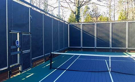 athletic club quiets paddle ball court noise