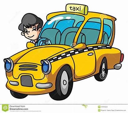 Taxi Clipart Driver Taxifahrer Disegno Illustrazione Voi