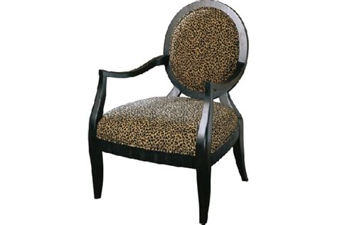 leopard print accent chair safari pattern