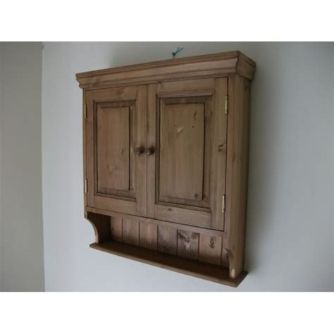 2 door pine wall cabinet w65cm