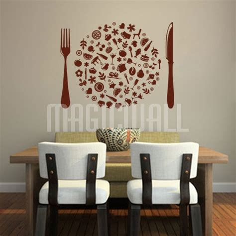 wall decals tasty life foods dining restaurant
