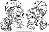 Shimmer Shine Coloring Pages Go Template sketch template