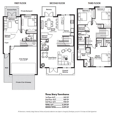 townhouse floor plans story townhouse floor plans car
