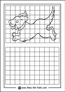 Practice Drawing Grid With Puppy  With Images