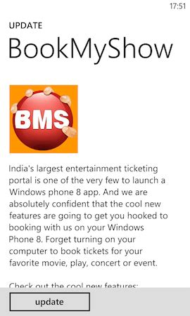 bookmyshow app updated for windows phone 8 the handheld