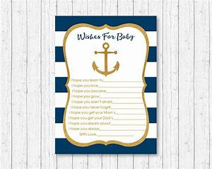 Pink Raffle Tickets Nautical Gold Anchor Printable Baby Shower Wishes For Baby