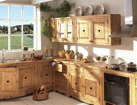 Meuble de cuisine bois brut - Le bois chez vous