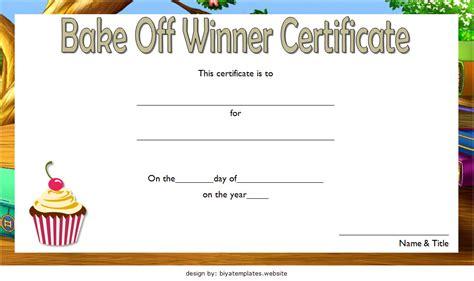 bake  certificate template   ideas