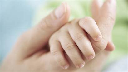 Mother Holding Hand Mom Child Close