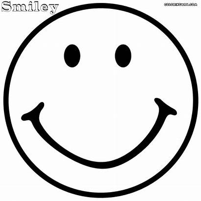 Coloring Face Pages Smiley Happy Emoji Kissy