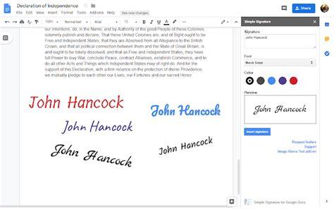 Simple Signature for Google Docs - Google Workspace ...
