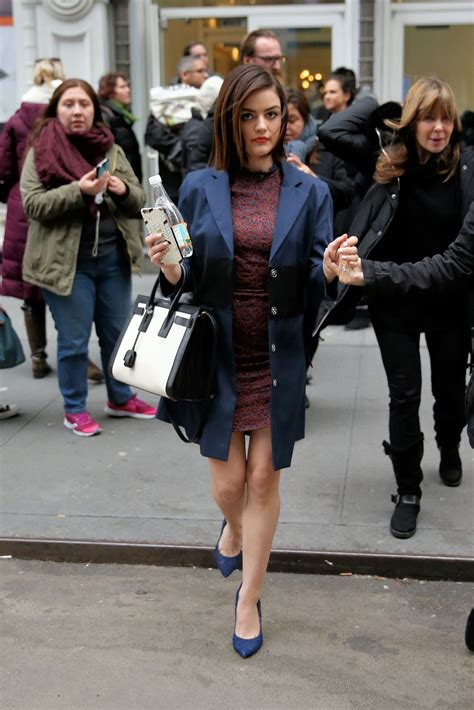 Lucy Hale Fashion - Leaves Buzzfeed in New York City 1/12 ...