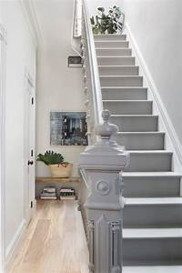 bathroom under stairs staircase transitional with finial