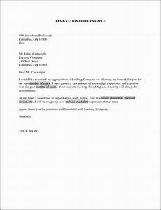 6 Resignation Letter Template Singapore