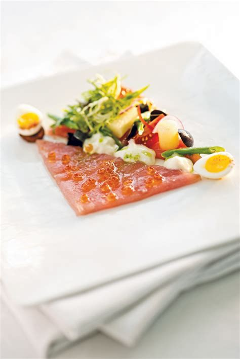restaurant cuisine nicoise deconstructed tuna nicoise the sea