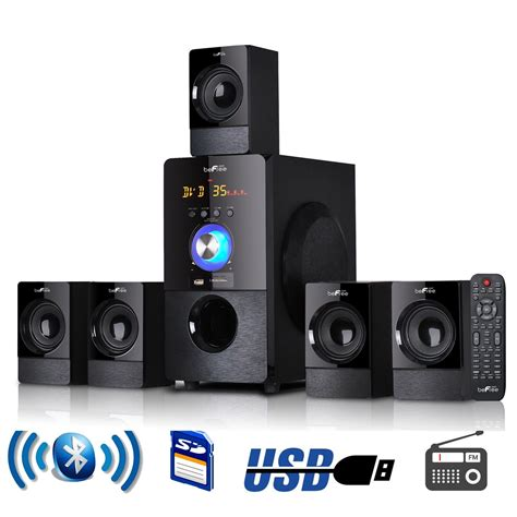 5 1 surround system 5 1 channel befree surround sound bluetooth home theater speaker system with usb ebay